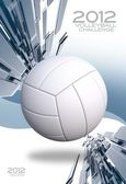 Volleybal achtergrond — Stockfoto