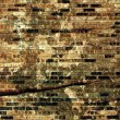 Cracked Brick Wall — Stock Photo