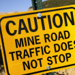 Mine Road Traffic — Stock Photo