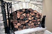 Fireplace Wood — ストック写真