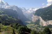 Jungfrau bergen — Foto de Stock