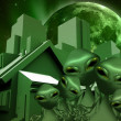 Royalty-Free Stock Photo: Aliens Real Estate