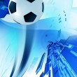 Soccer Blue Background — Stock Photo