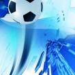 Soccer Blue Background — Stock Photo
