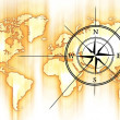 World and Compass - Stock Photo