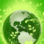 Green Floral Globe — Stock Photo