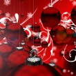 Red Christmas Ornaments — 图库照片