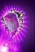 Pinky Karaoke Design — Stock Photo