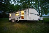 25 Feet Travel Trailer — Stock Photo