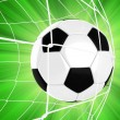 Soccer Ball in a Net — Stock Photo