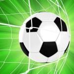 Soccer Ball in a Net — Stock Photo