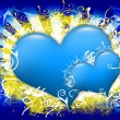Blue Hearts Design - Stock Photo