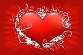 красный цветочные сердца — Стоковое фото