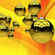 Yellow Christmas Theme — Foto de Stock