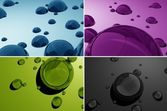 Water Drops 3D — Stock Photo