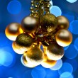 Stock Photo: Blue Golden Ornaments