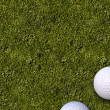 Golf Balls Golf Field — Stock Photo