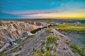 Badlands Sunset HDR — Stock Photo