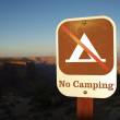 No Camping Sign — Stock Photo