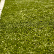 Sport Grass Field with Line - Stock Photo