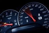 Sporty Speedometer — Stock Photo