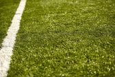Sport Grass Field with Line — Stock Photo
