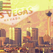 Las Vegas Postcard - Stock Photo