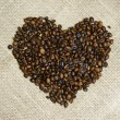 Coffee Beans Heart - Stock Photo