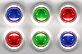 Colorful Glassy Buttons — Stock Photo