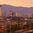 Las Vegas Sunset Skyline — Stockfoto