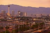Las Vegas Sunset Skyline — Stock Photo