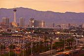 Las Vegas Sunset Skyline — Stock Photo