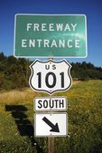 Highway 101 Entrance — Stock Photo