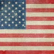 USA Flag on Canvas — Stock Photo