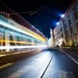 Stock Photo: Night Traffic in Motion