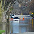 Stock Photo: Flooded City Streets
