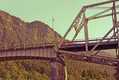 Old Metal Bridge in Oregon — Stock Photo