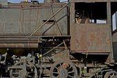 Locomotiva corroída — Foto Stock