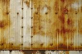 Rusty Metal with Rivets — Stock Photo