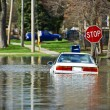 Stock Photo: Car Under Water