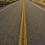 Straight Arizona Highway — Stock Photo