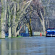 Stock Photo: Flooded Suburb Street