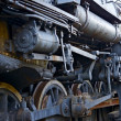 Stock Photo: Ruined Steam Locomotive