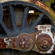 Stock Photo: Old Locomotive Wheel