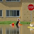 Flooded Building — Stock Photo