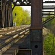 Rusty Railroad Bridge — Stock Photo