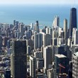 Chicago Downtown Bird Eye — Stock Photo