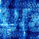 Blue Techno Background — Stock Photo