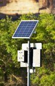Solar Powered Sign — Stock Photo