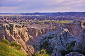 Eroded Badlands Scenery — Stock Photo